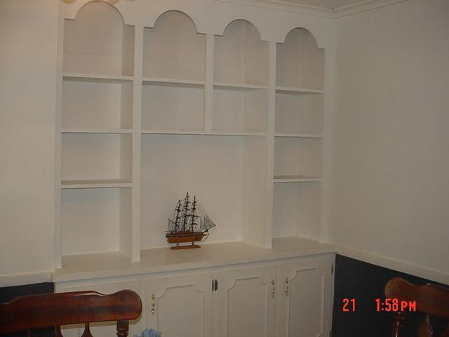 Built Ins in Dining Room